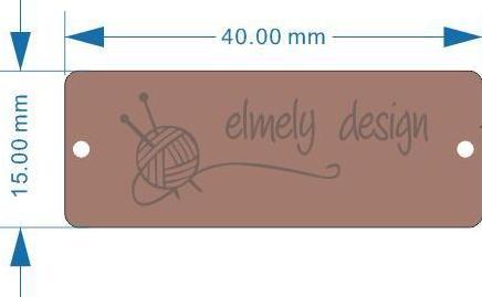 Image of   Label imiteret læder m. Elmely Desigs logo