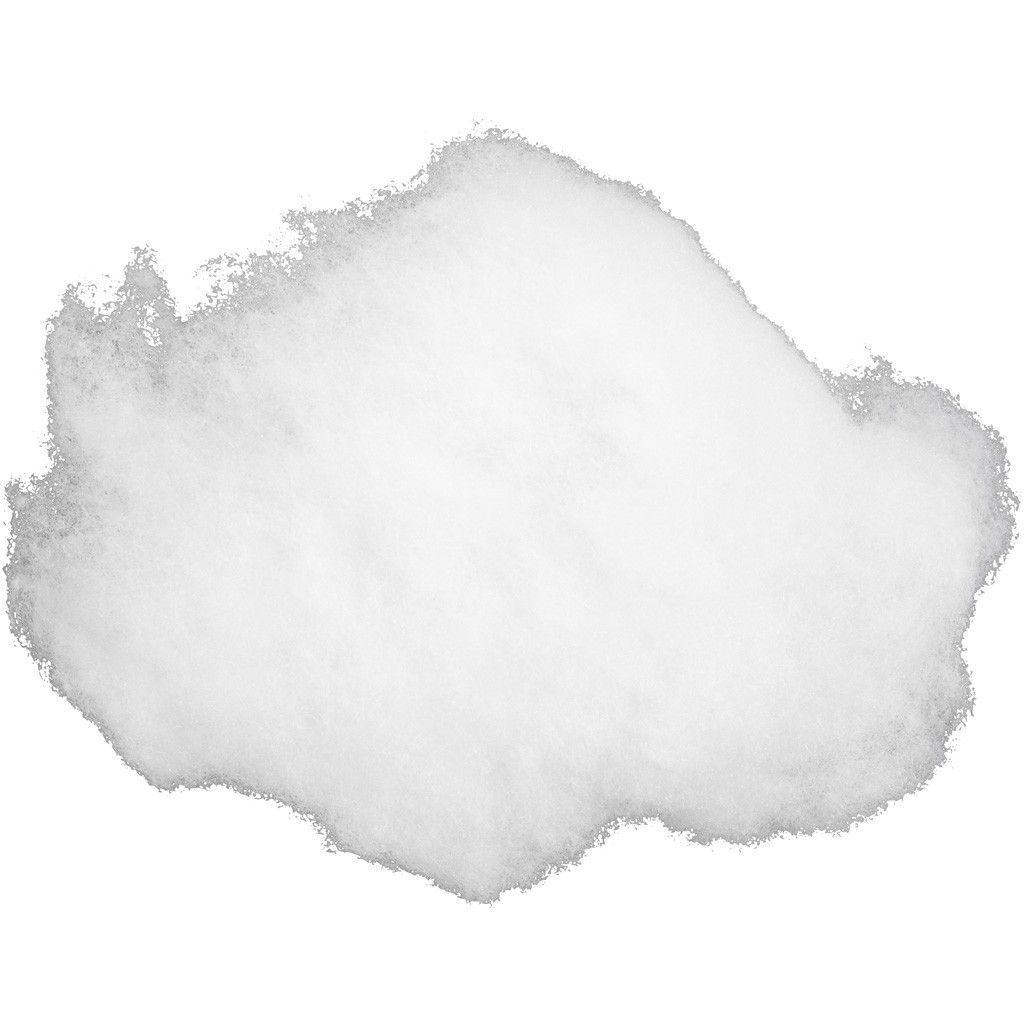 Image of   Bamsefyld / Fyldevat / Fyld til puder / Dukkefyld / polyesterfyld Hvidt 200 g