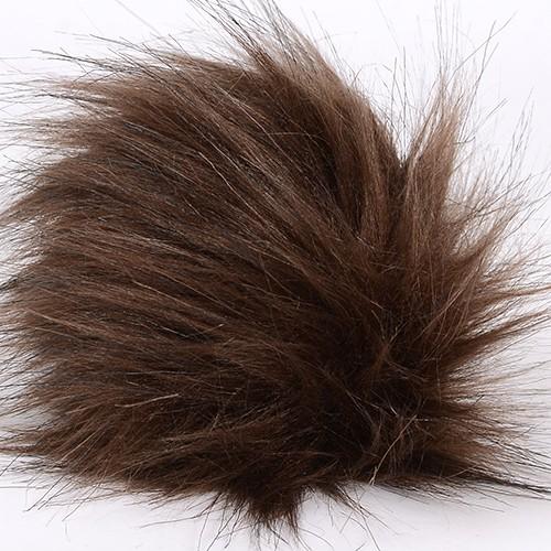 Image of Pompon Faux Fox Brun