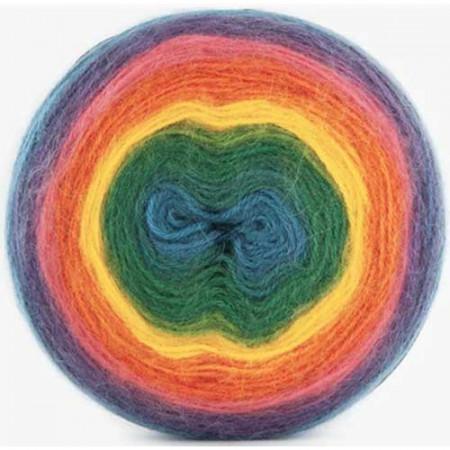 Image of   Angora Cake mohair garn med lang farveskift 200 gram 603