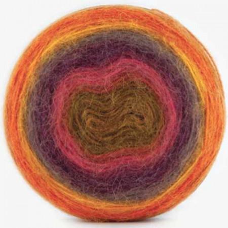 Image of   Angora Cake mohair garn med lang farveskift 200 gram 604