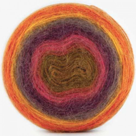 Image of   Angora Cake mohair garn med lang farveskift 200 gram color 604