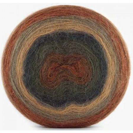 Image of   Angora Cake mohair garn med lang farveskift 200 gram 607