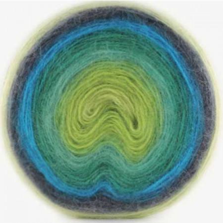 Image of   Angora Cake mohair garn med lang farveskift 200 gram 609