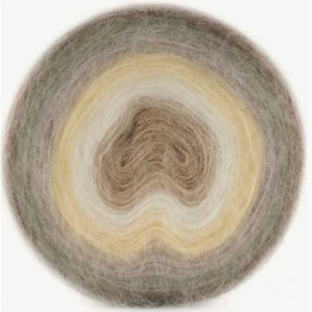 Image of   Angora Cake mohair garn med lang farveskift 200 gram color 610