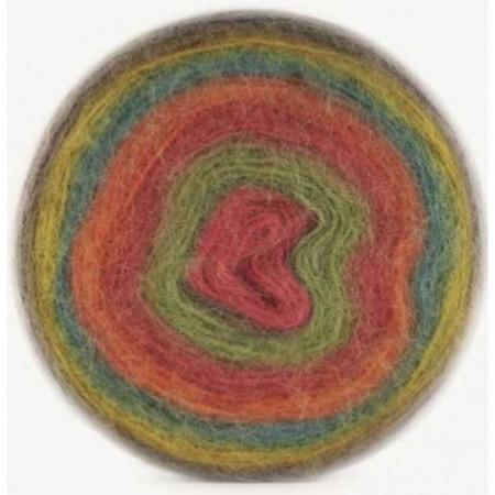 Image of   Angora Cake mohair garn med lang farveskift 200 gram 611