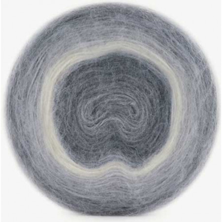 Image of   Angora Cake mohair garn med lang farveskift 200 gram color 614