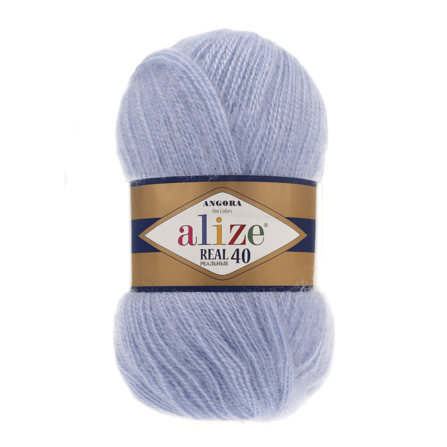 Image of   Angora real 40 mohair garn 100 gram Blue 40