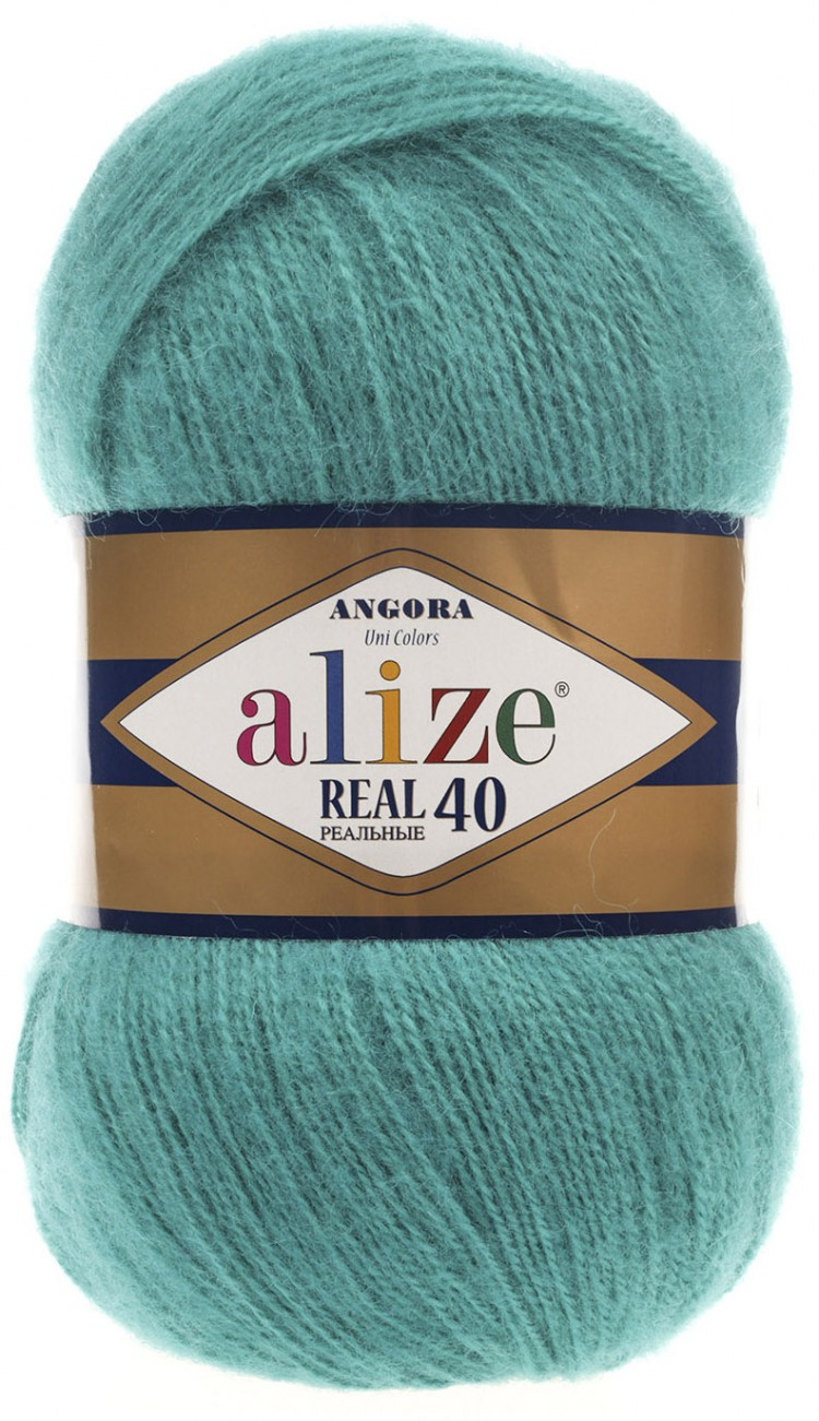 Image of   Angora real 40 mohair garn 100 gram Teal blue 570