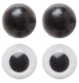 Image of   Bamseøjne sikkerhedsøjne i farver Hvid 12 mm