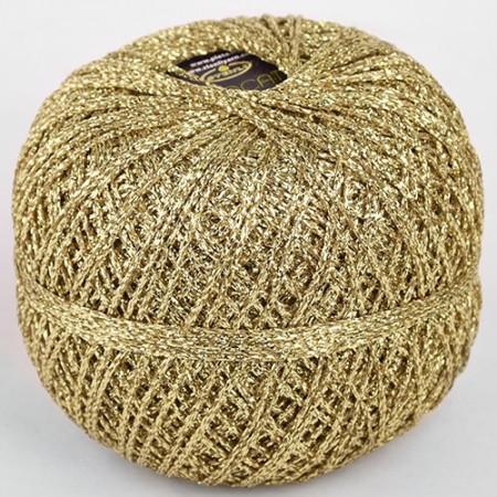 Image of Brocat Lurex Glimmer garn fra Stenli Yarn 50 gram Guld 02