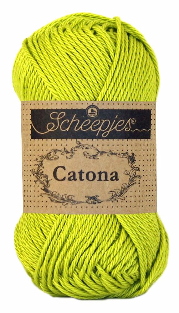 Catona bomuldsgarn 25 g green yellow 245 fra N/A fra elmelydesign.dk