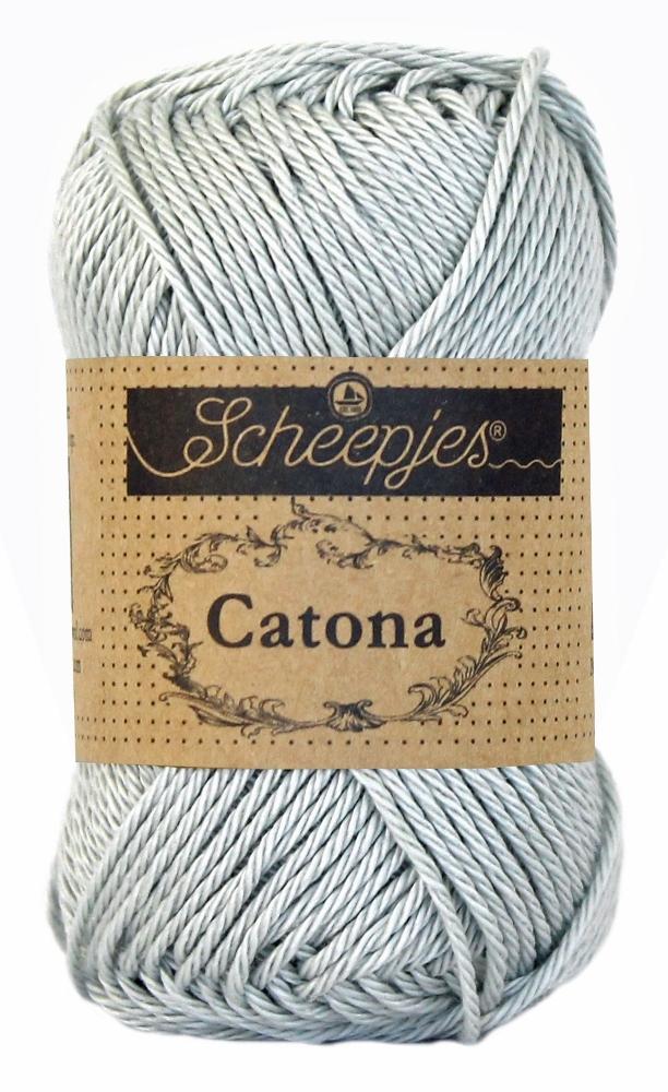 Catona bomuldsgarn 25 g light silver 172 fra N/A på elmelydesign.dk