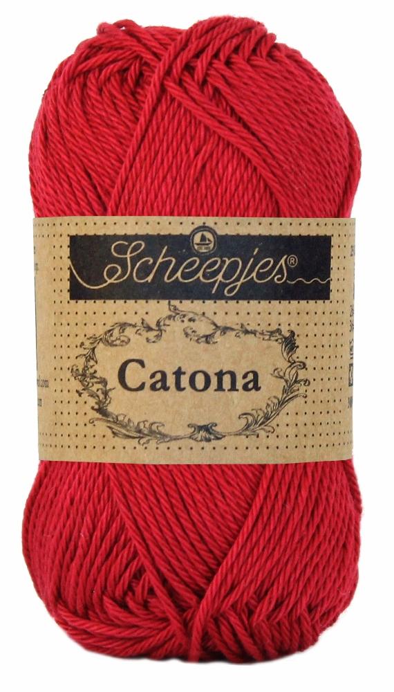 N/A – Catona bomuldsgarn 25 g scarlet 192 fra elmelydesign.dk