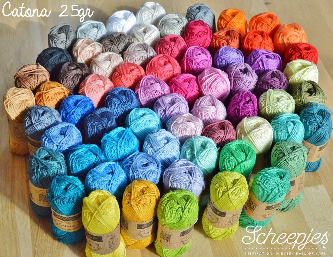 Image of   Scheepjes Catona bomuldsgarn 25 g Sortiment 109 farver med et klik