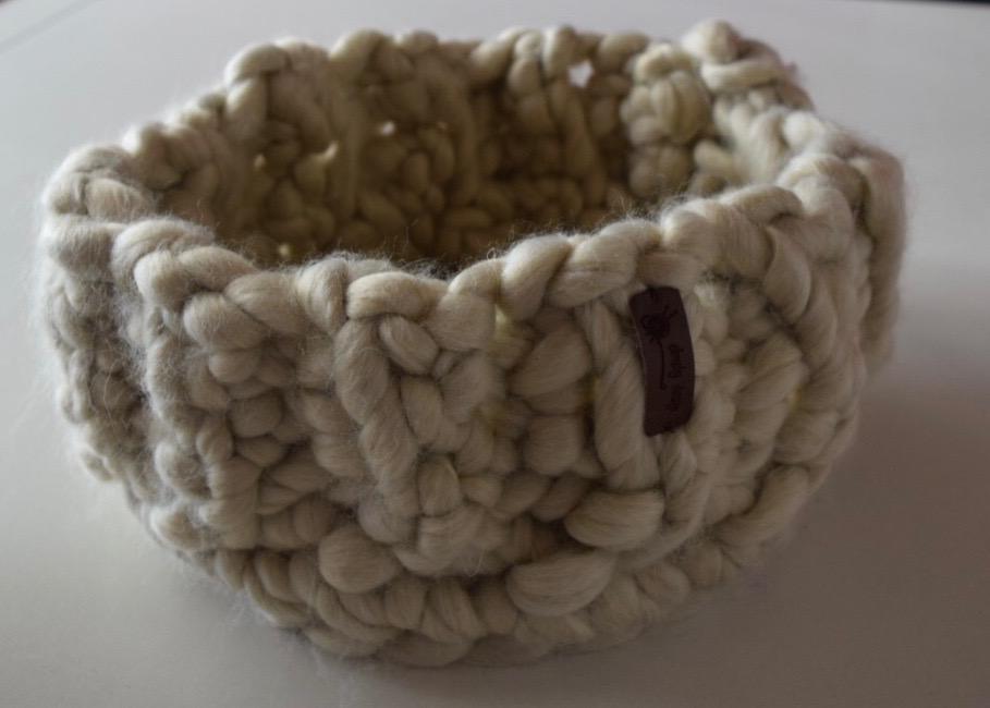 Image of   Hæklekit chunky kurv evt. med læderpapir indsats