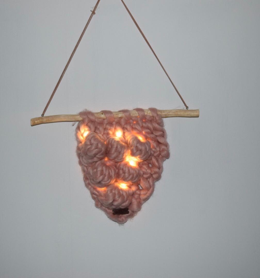 Image of Hækleopskrift Chunky ophæng med lys