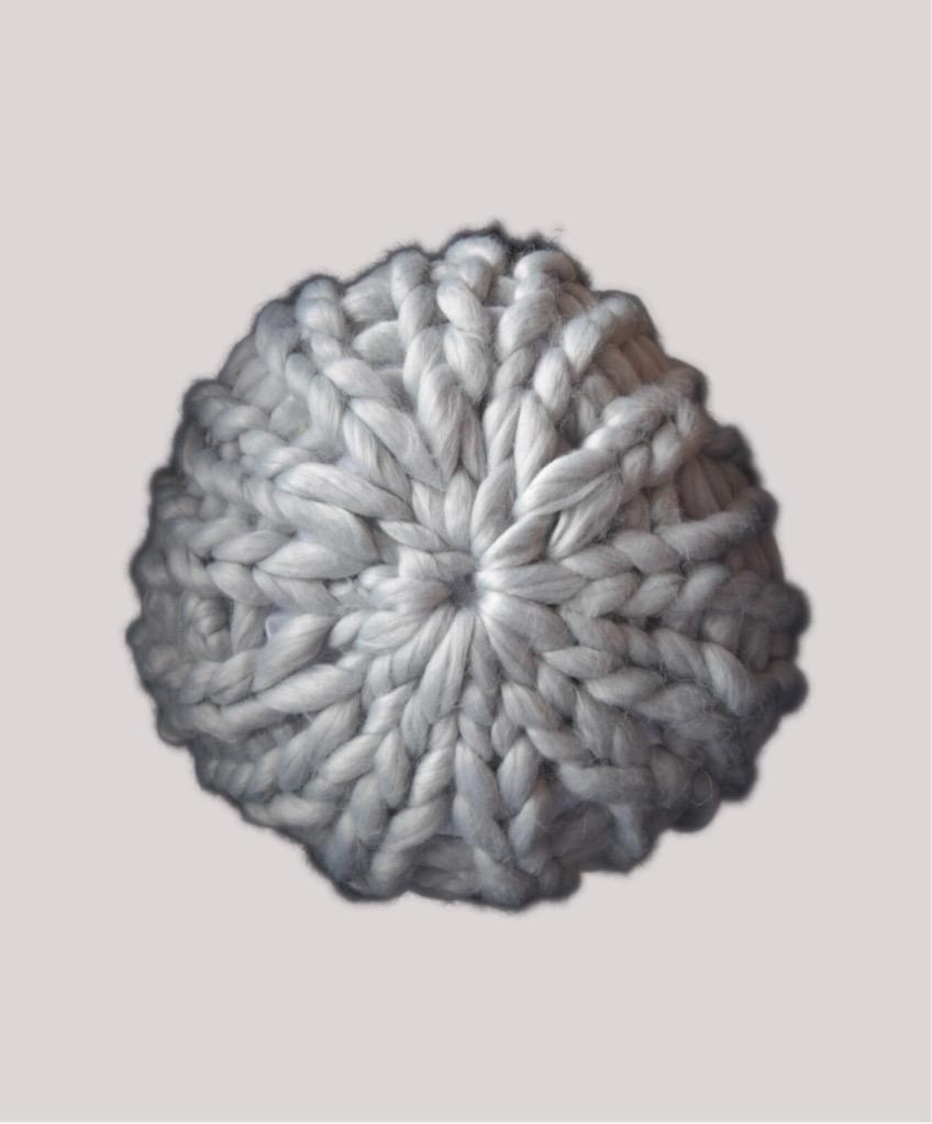 Strikkekit rund chunky pude Ø ca 40 cm