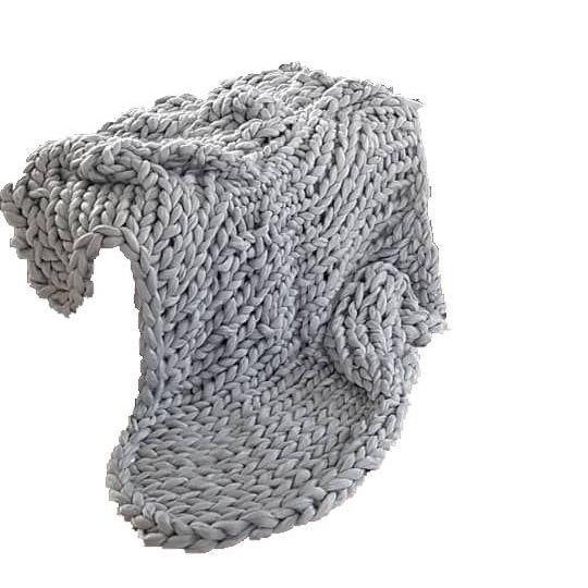 Image of   Strikkekit Chunky Tæppe / blanket