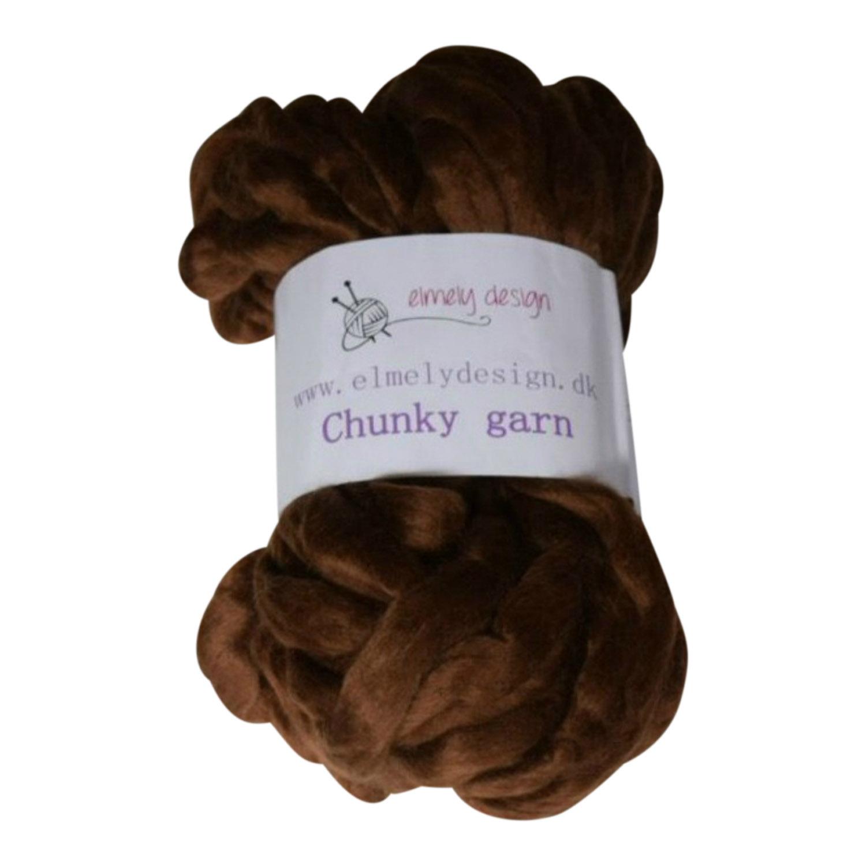 Chunky mega garn 40 cm Brun