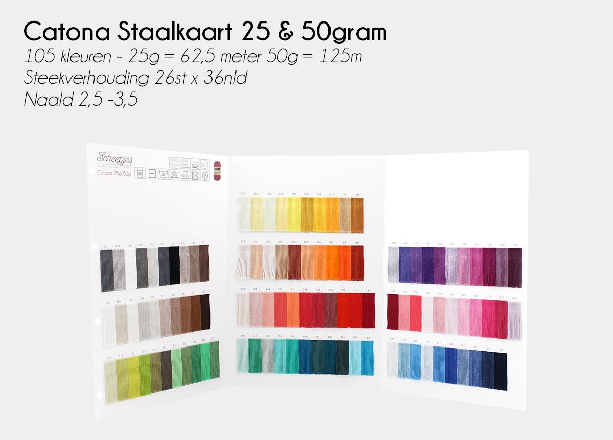 Image of   Farvekort Catona 25 / 50 gram 105 farver