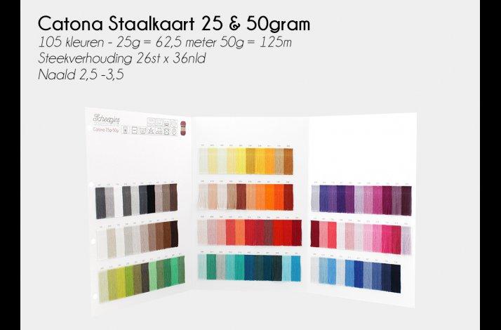 Farvekort Catona 25 / 50 gram 105 farver