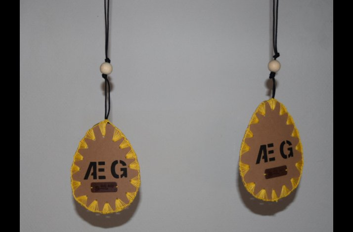 skabelon til paaskeaeg i læderpapir uro mobile