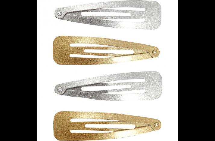 Knækspænde hårspænde Guld Sølv
