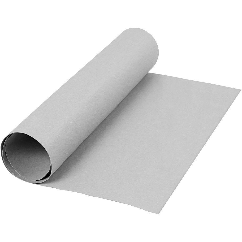 Image of   Læderpapir, B: 50 cm, tykkelse 0,55 mm, grå, 1m