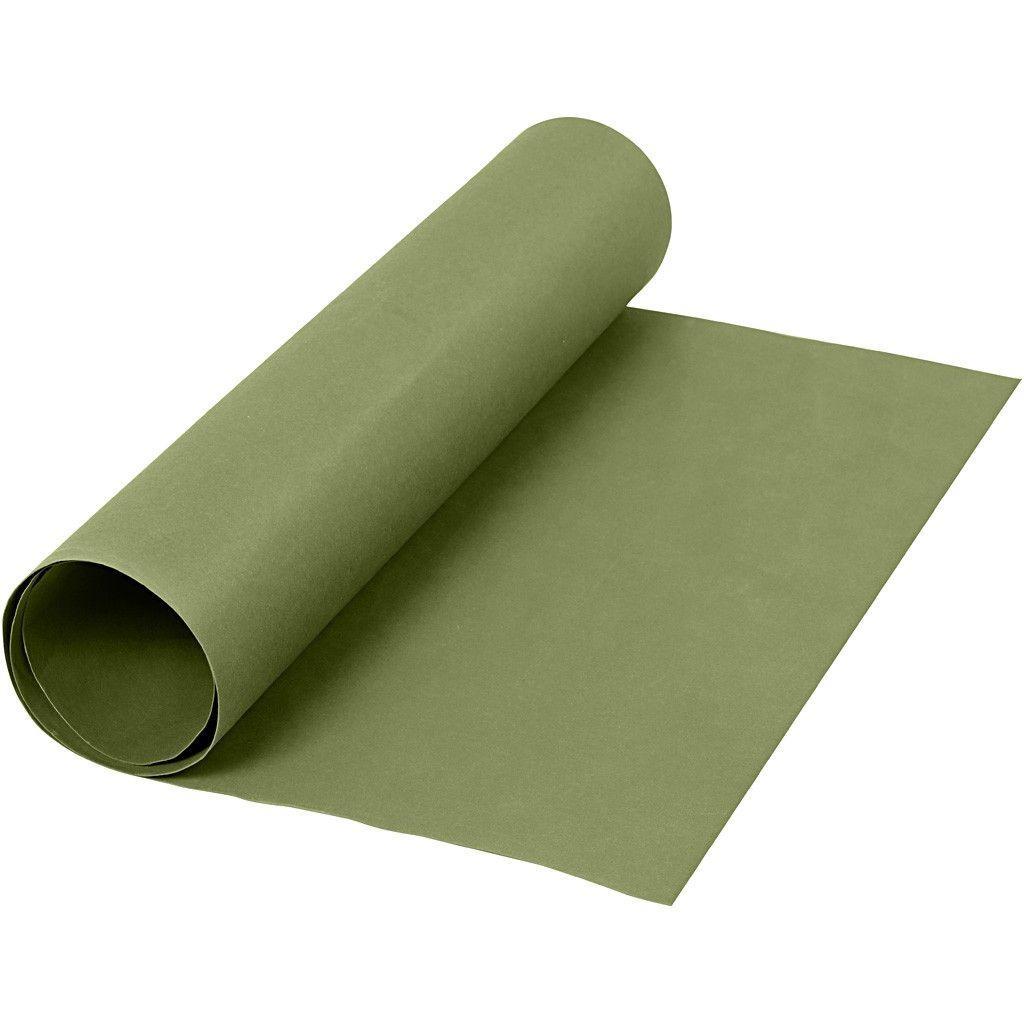 Image of   Læderpapir, B: 50 cm, tykkelse 0,55 mm, grøn, 1m