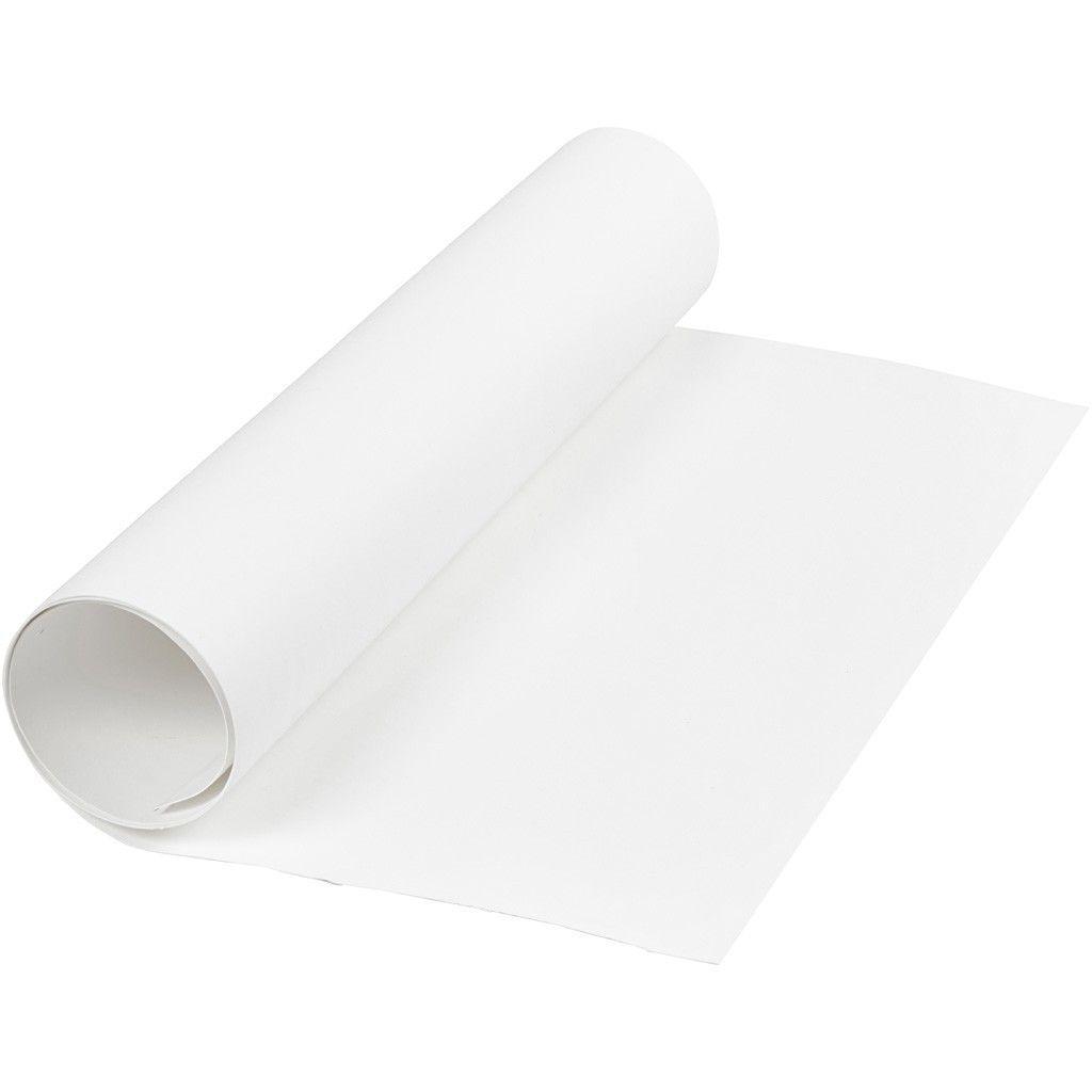 Image of   Læderpapir, B: 50 cm, tykkelse 0,55 mm, hvid, 1m