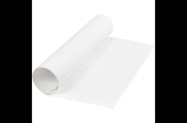 Læderpapir, B: 50 cm, tykkelse 0,55 mm, hvid, 1m