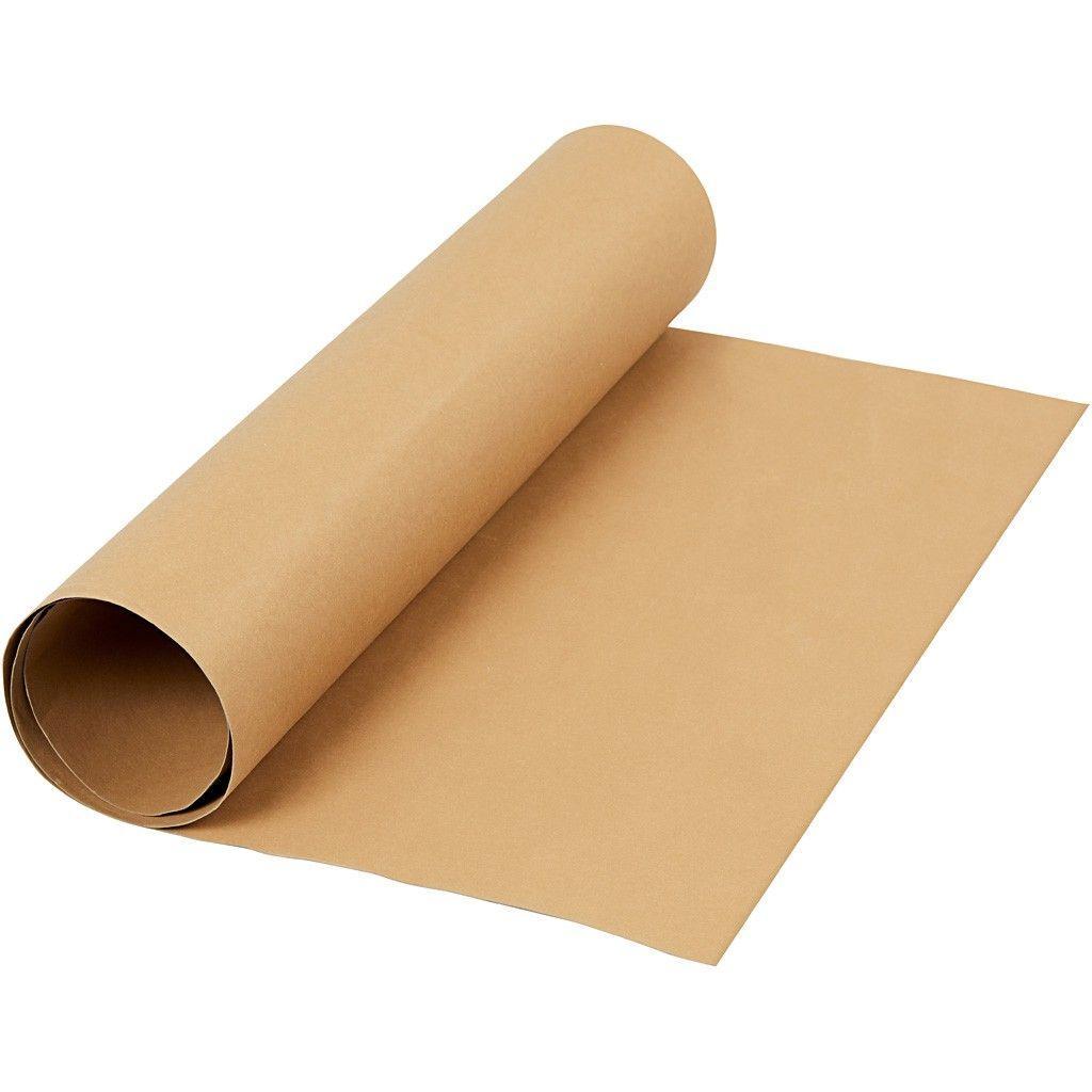 Image of   Læderpapir, B: 50 cm, tykkelse 0,55 mm, lys brun, 1m