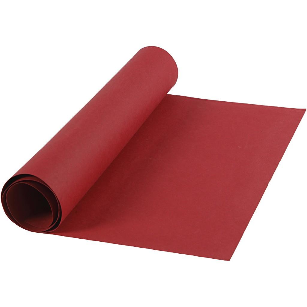 Image of Læderpapir, B: 50 cm, tykkelse 0,55 mm, rød, 1m