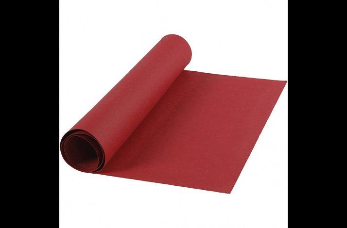 Læderpapir, B: 50 cm, tykkelse 0,55 mm, rød, 1m