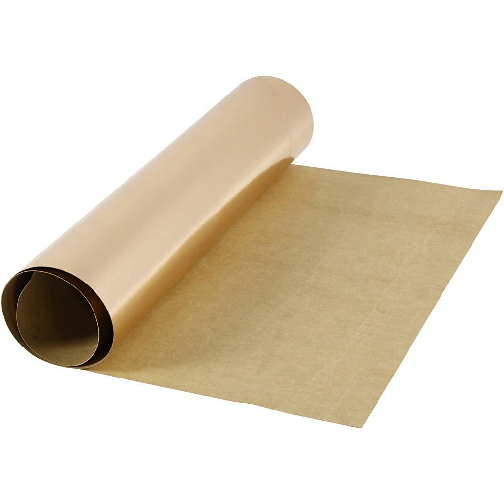 Image of Læderpapir, B: 49 cm, tykkelse 0,55 mm, rosaguld, 1m