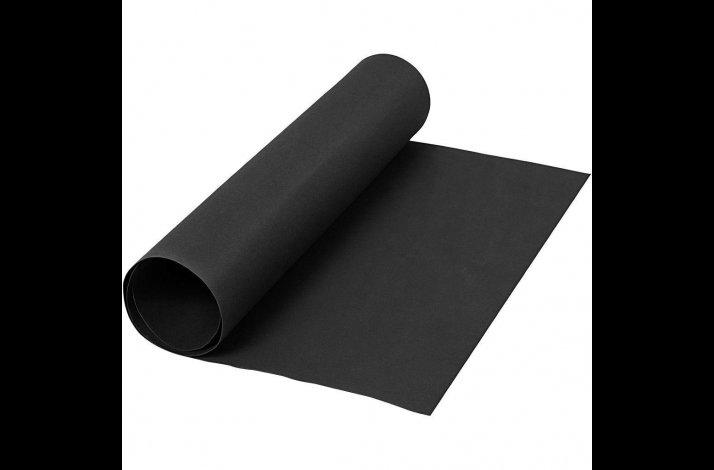 Læderpapir, B: 50 cm, tykkelse 0,55 mm, sort, 1m