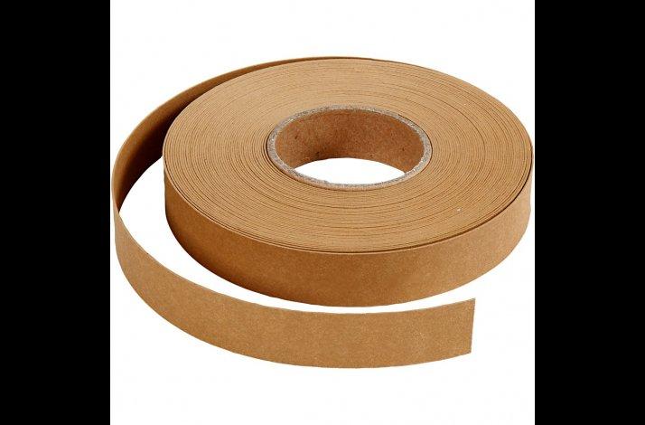 Læderpapir flettestrimler, B: 15 mm, tykkelse 0,55 mm, 9,5m