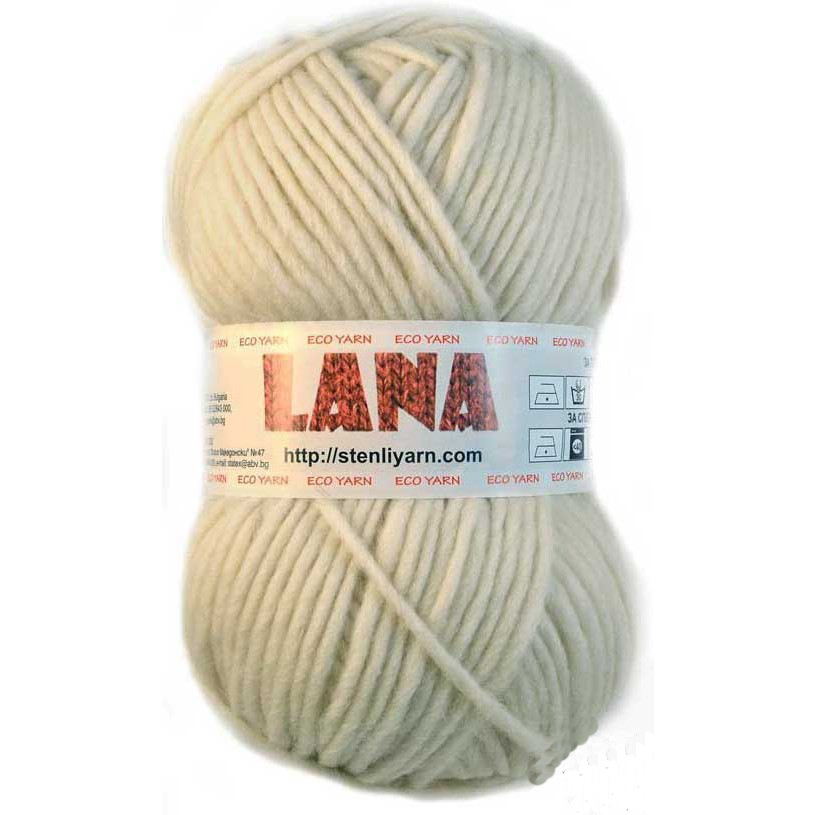 Lana merino uld 100 gram Råhvid 01