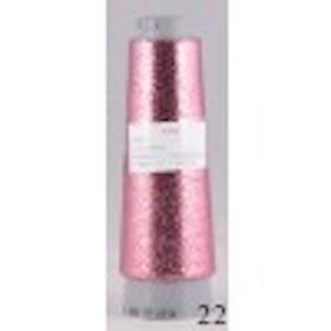 Image of Tyndt lurex garn glimmertråd følgetråd Pink 22
