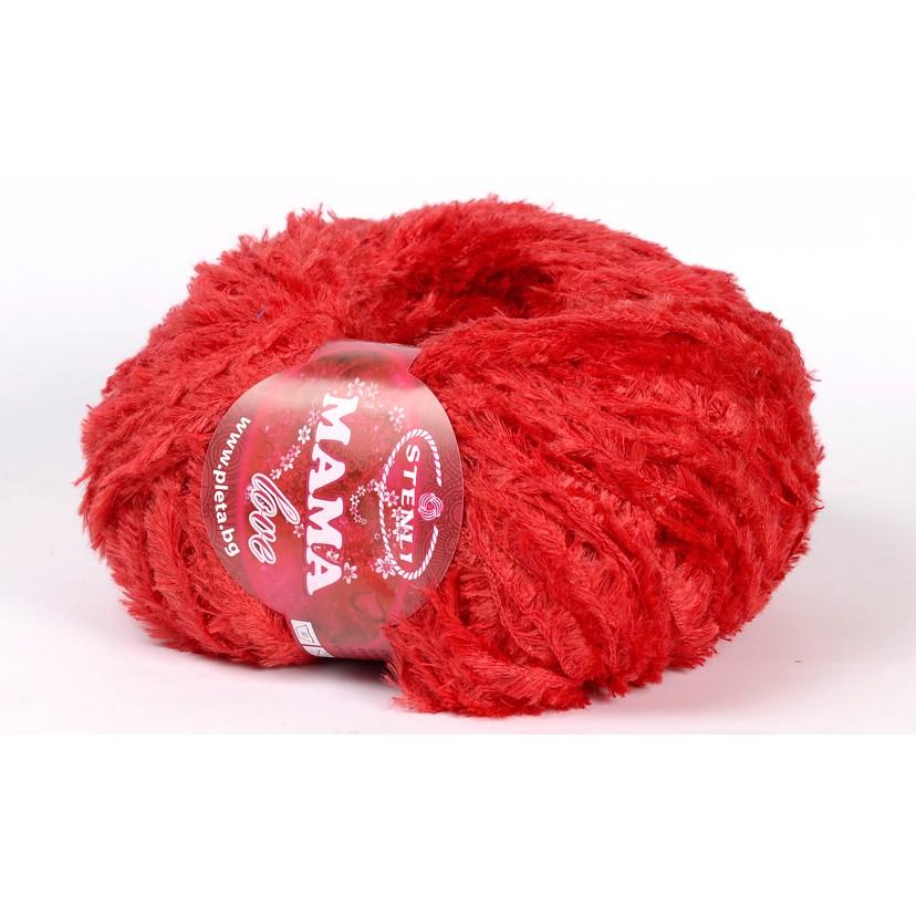Teddy Garn 100 gram - Mama Love Rød 0013