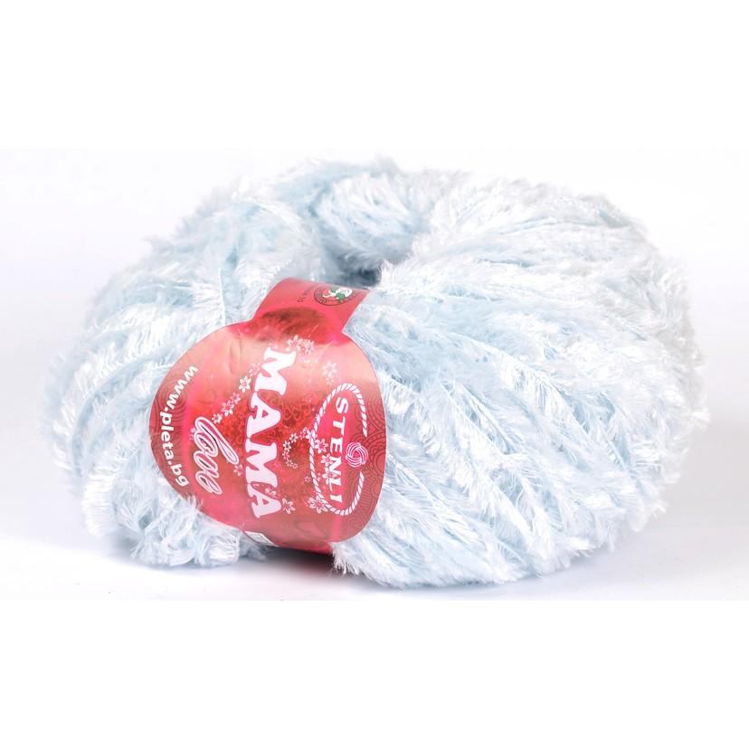 N/A – Mama love teddy garn lyseblaa 0004 fra elmelydesign.dk
