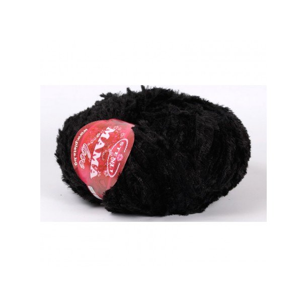 Teddy Garn 100 gram - Mama Love Sort 0008