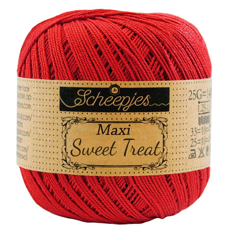 Image of   Scheepjes Maxi Sweet Treat / Maxi Bonbon Hot Red 115