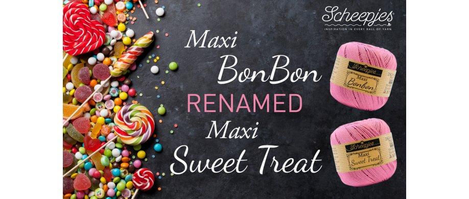<strong>Maxi Bonbon skifter navn til Maxi Sweet Treat - stadig det samme </strong><strong>garn</strong>