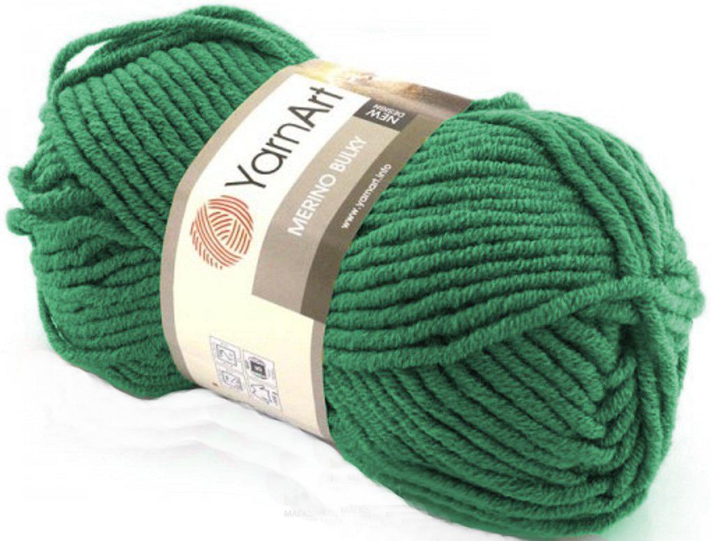 Merino Bulky 100 gram Grøn 338