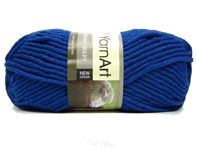 Merino Bulky 100 gram Mørkeblå 551