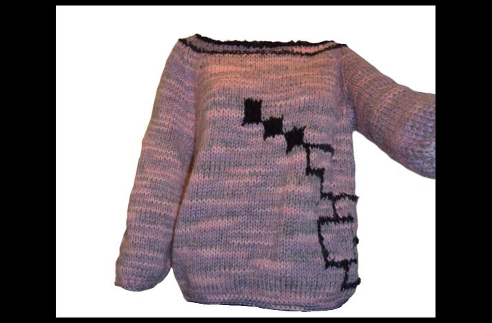 Strikkeopskrift Pernilles modern art strik med pels