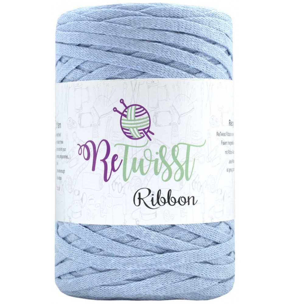 Image of   Retwisst Ribbon Garn Babyblå 17