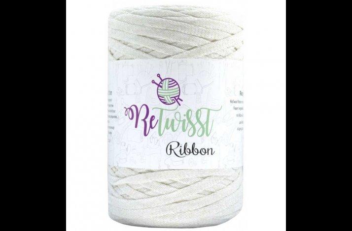 Retwisst Ribbon Garn Knækket Hvid 07